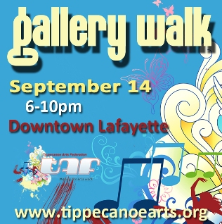 2012 Gallery Walks are May 11, July 13, and September 14 from 6-10pm