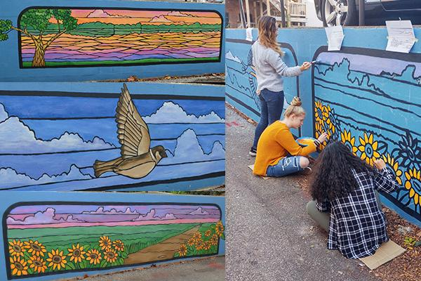 ASAP Mural Art Class -Nature Views - Tippecanoe - 2017